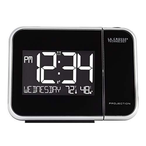 La Crosse Technology 616-1412 Projection Alarm Clock with Indoor Temperature, 5.90
