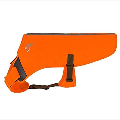 Browning Pet Vests, Hi Vis Orange, Adjustable Hunting Safety for Dogs, Small, P000038680102