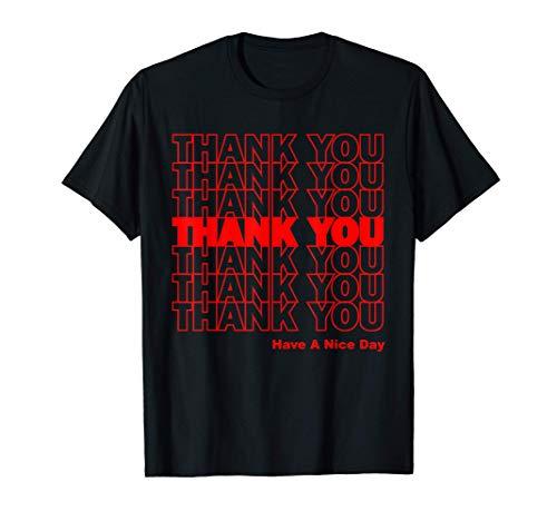 Funny Thank Yoy Shopping Bolsa de plástico Camiseta