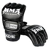 Enzhe - Guantes de boxeo unisex de piel sintética para Muay Thai, Combat Sport,...