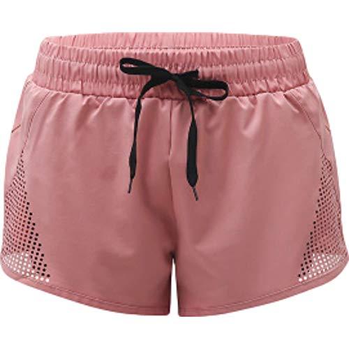 Mono de Cuello Redondo de Color sólido para Mujer Moda Tendencia Simple Relajado Casual Pantalones Cortos básicos cómodos con cinturón S