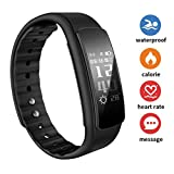 Fitness Tracker with Blood Pressure Heart Rate Sleep Monitor,10 Sport Modes IP68 Waterproof