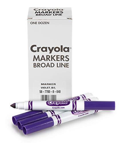 Crayola 12 Count Original Bulk Markers, Violet Purple