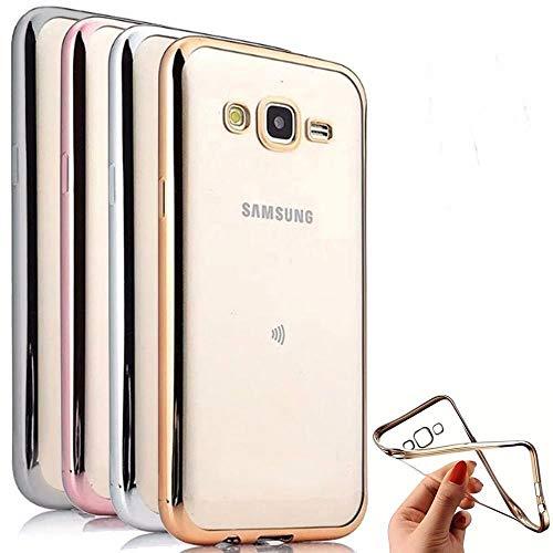 munddy Funda Silicona Cromado para Samsung Galaxy S7 Edge Gel ULTRASLIM Borde Efecto Metalizado,Negra,Dorada,Plateada,Oro Rosa,Azul (Protector Cristal Templado Opcional)(Negro) …