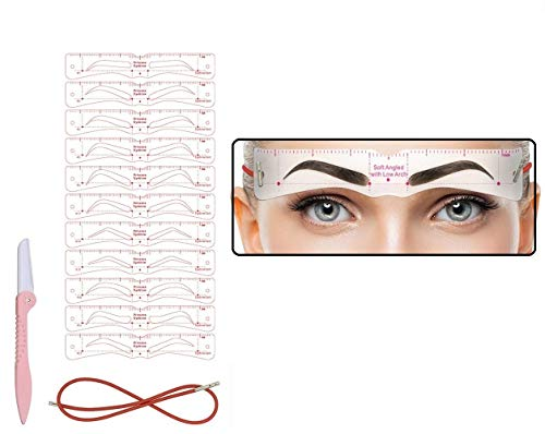 Eyebrow Stencil,11 Fashionable Styles Eyebrow Shaper Kit for Women Reusable Eyebrow Template 3 Minutes Makeup Tools for Eyebrows