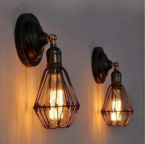 2-delige vintage wandlamp E27 wandlamp industrieel voor slaapkamer woonkamer eettafel (zonder lamp)