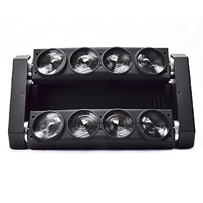 Stage Light Eyourlife 8x10W Par LED Spider Moving Head Light RGBW 4IN1 DMX 512 Stage Disco Lighting