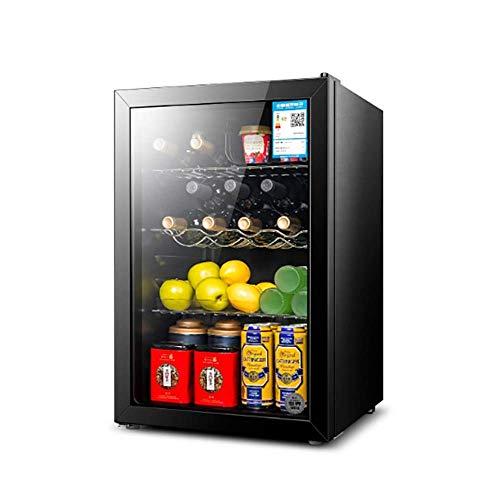 YFGQBCP Botella 80L termoeléctrica Rojo y Negro del refrigerador de Vino, Funcionamiento silencioso termoeléctrica Vino Frigorífico Independiente Mostrador Bodega Frigorífico, Control Digital