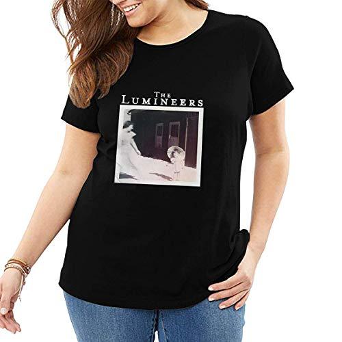 The Lumineers - Camisetas de Manga Corta de Talla Grande para Mujer y se?Ora, Camiseta de Algod¨®n con Cuello Redondo, Extragrande