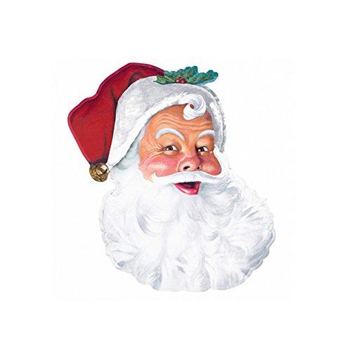 amscan 190247 Klassischer Weihnachtsmann-Ausschnitt, 66 cm, 1 Stück, Mehrfarbig