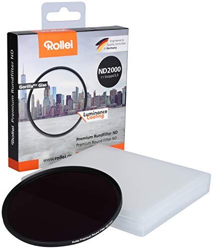 Rollei Premium 67mm Rundfilter ND 2000/11Stops, Objektiv Grau-Filter für Langzeitfotografie am Tag (67 mm, ND 2000), 26155