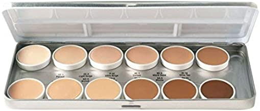 Ben Nye 12 Color Palette, Essential Matte Foundation
