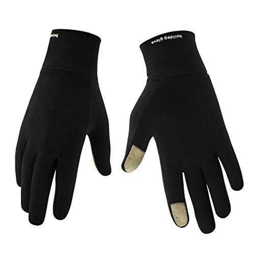 Gants de sport légers Warm Up Boodun Running Unisexe Fin Walking pour homme et femme avec fonction tactile S noir