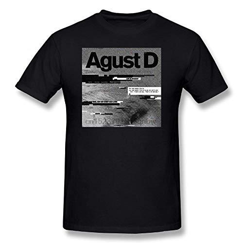 AGUST D Album Art Letter Print T-Shirt Cotton Tshirt Graphic T Shirt Men Short Sleeve tee Shirt 100% Cotton Funny T Shirts