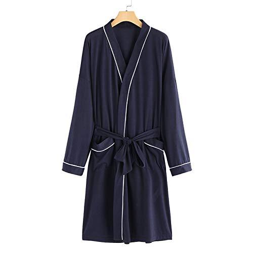 Kimono Mannen Jurk Lange Mouw Mannelijke Badjassen Nacht Dressing Jurk Thuis Kleding Lange Badjas Dunne Slaapmode