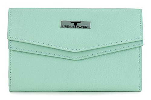 Urban Forest Mint Womens Leather Wallet TESS