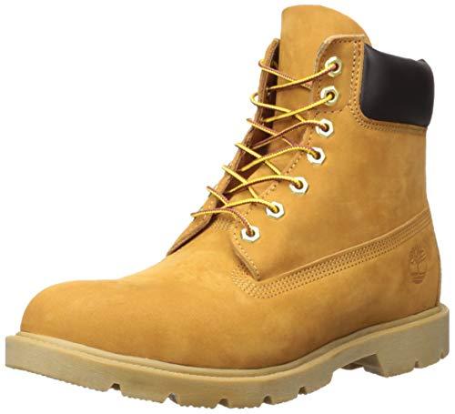 "Timberland Men's 6"" Basic Boot-Contrast Collar, Wheat Nubuck, 10"