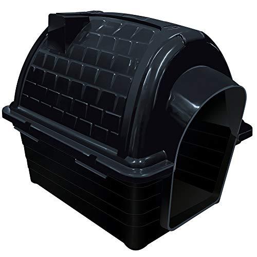 Casinha Plástica Furacão Pet Iglu N.4.0, Black Furacão Pet para Cães