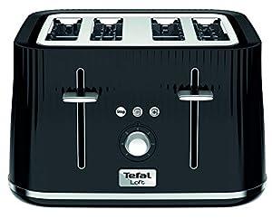 Tefal Loft TT760840 4-Slot Toaster/Black Slice, Plastic, 1700 W