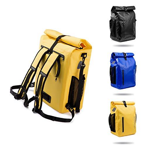 LOVEVOOK Fahrradtasche für Gepäckträger, 100{5e22ec7aa12bd8b7734a6cacab8de677b66a045a157e56946ee64b029114bfbc} Wasserdicht 3 in 1 Reflektierend Fahrradrucksack Gepäckträgertasche Umhängetasche, Radsport Rucksack mit Abnehmbare Laptoptasche, für Herren Damen Gelb