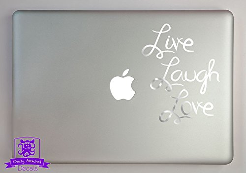 Overly Attached Decals Live Laugh Love Typography 11