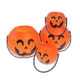 Bolsa de Partido de Halloween, Cubo de calabaza de plástico Truco de rol Decoración de roles Bolsa de decoración de Halloween Linterna Inicio Tienda Partido Decoración linda Herramientas