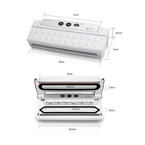 Wotefusi Industrial New 110V-220V 110W 6 Bags/Min Food Vacuum Packaging Sealing Sealer Machine White