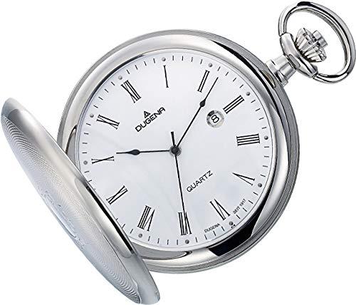 Dugena Savonette 4460304-1 - Reloj de bolsillo (indicador de fecha, con cadena de 30 cm)