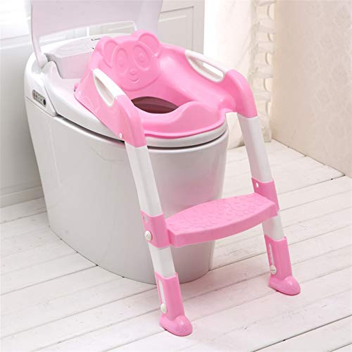 DXY Potty Training Toilet For Children's Step Stools Adjustable Toddler Potty Chair With Strong And Non-slip Wide Steps, Suitable For Boys And Girls (Blue) (Color : Pink)