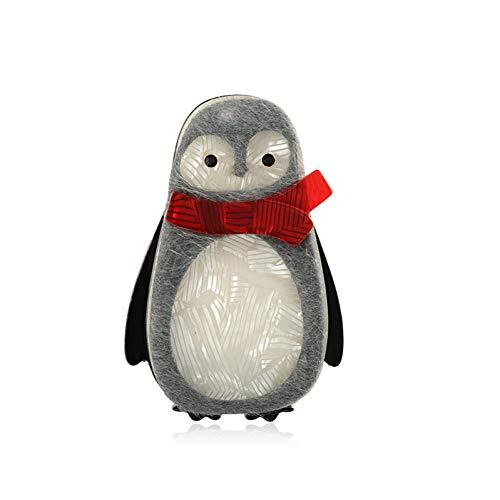 AIXZHEN Nette Pinguin-Acrylbrosche-Leder-Corsage Für Frauen Heraus Spielraum-Dekorations-Zusatz-Verzierungen
