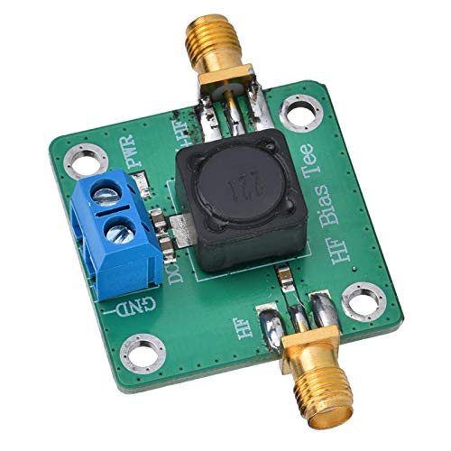 Bias Tee Microondas HF Bias Tee Pérdida de inserción 50K-60MHz DC Bias RF Terminal Accesorios electrónicos para antena de amplificador de radio