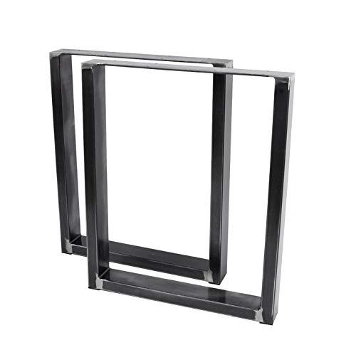 Magnetic Mobel 2X Tischgestell Rohstahl Design Industrielook Tischbeine Tischuntergestell Metall Stahl 1 Paar in versch. Größen 420x400 (Bank)