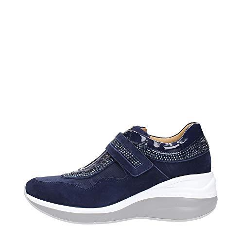 Cesare Paciotti PPED2WTCA - Zapatillas Deportivas para Mujer, Color Azul Marino Azul Size: 37 EU