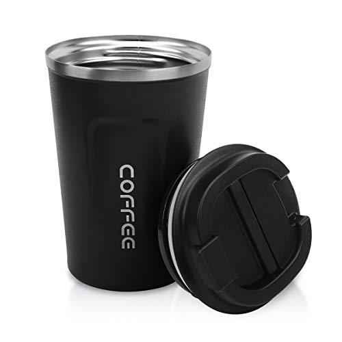 12oz Tumbler,Double Walled Insulated Stainless Vacuum Coffee Travel Mug With Leakproof Flip for Keep...