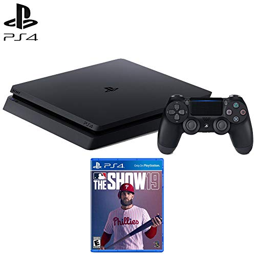 Sony Playstation 4 Slim Gaming Console 1 TB Core-Jet Black (CUH-2215B) MLB The Show 19 Standard Edition Video Game