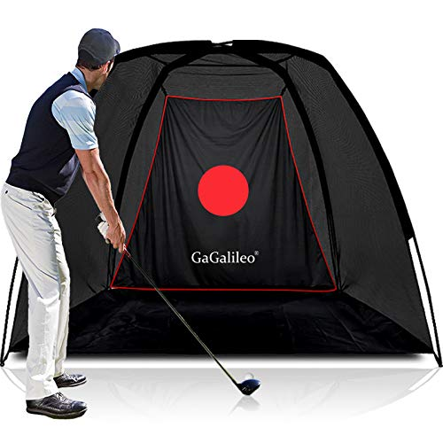 Golf Net Golf Hitting Net for Backyard Golf Home Driving Range Practice Golf Indoor Golfing Net Game 8X6X5FT with Carry Bag and Target