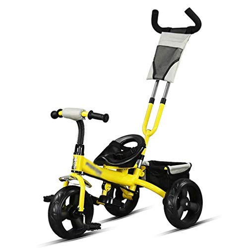 Xiaoyue Fahrräder Kinder Dreirad Pedal-Fahrrad-Innen Tricycle 2~10 Jahre alt Big Kid Kinderwagen (Farbe: Gelb, Größe: 76x43x59cm) lalay (Color : Yellow, Size : 76x43x59cm)