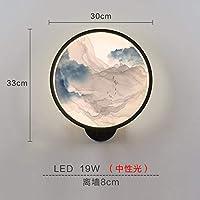 2020 Latest Design インクの風景のあなたのベッドの壁クラシックソファーベッドルームの壁ランプ中国の周りの単一の創造LEDランプの部屋を塗ります,F
