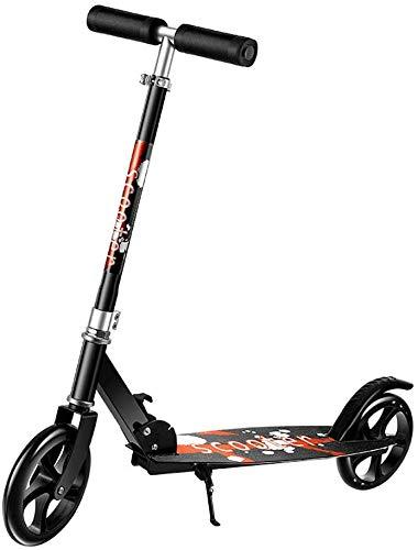 FEE-ZC Conveniencia al Aire Libre Scooter Plegable para Adultos con Ruedas Grandes, Scooter de cercanías Ajustable Ligero con Manillar Ajustable, no eléctrico, Capacidad de Peso de 100 kg