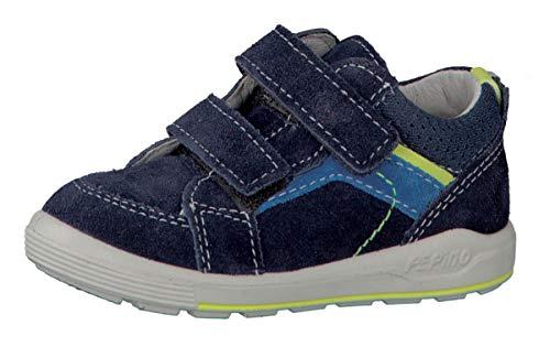 RICOSTA Jungen Sneaker Leon 2421800, Kinder High-Top Sneaker,Sportschuh,Klettschuh,Sneaker-Stiefel,mid Cut, Doppelklett-Verschluss,Nautic,23 EU