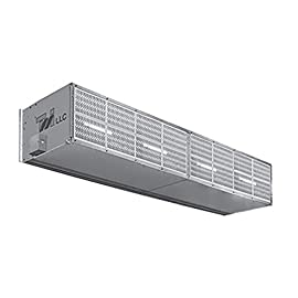 """Curtron S-XHD-108-2-FILTER Extra Heavy Duty Industrial Air Curtain, 108"""" Wide with Two Motors & Air Filter 8"""
