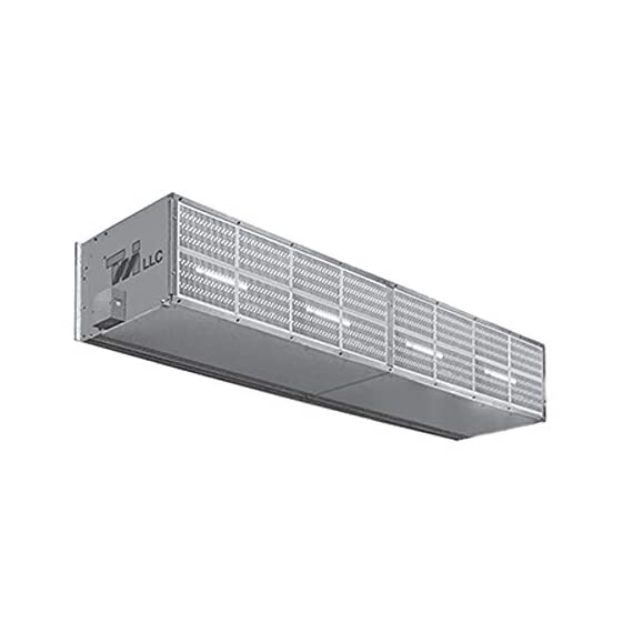"Curtron s-xhd-240-5-filter extra heavy duty industrial air curtain, 240"" wide with five motors & air filter 1"