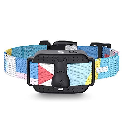Premium Collar Antiladridos para Perros Pequeños y Grandes Collar Adiestramento Perros No Electrico Collares Anti ladridos Dispositivo Antiladrido Collare Entrenamiento (Color : Black)
