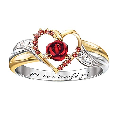Fashion Flowers Ring Animal Women Wedding Engagement Party Jewelry Size6-10, Rings, Jewelry & Watches (B)