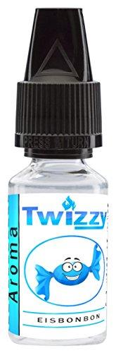 10ml Twizzy® Eisbonbon Aroma | Aroma für Shakes, Backen, Cocktails, Eis | Aroma für Dampf Liquid und E-Shishas | Flav Drops | Ohne Nikotin 0,0mg