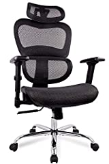 Multifunction Headrest - A long-day work will cause neck problems. The ergonomic high back office chair is designed with adjustable headrest. Multi-dimensional free rotating headrest provides the most comfortable position for your head and neck. Func...
