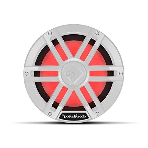 "Rockford Fosgate M1D4-10 Color Optix 10"" DVC 4-Ohm Multicolor LED Lighted Marine Subwoofer - White"