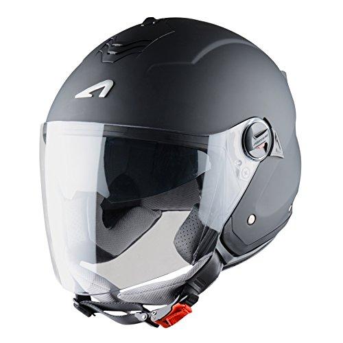Astone Helmets Mini Jet, Casco Jet, color Negro Mate, talla L