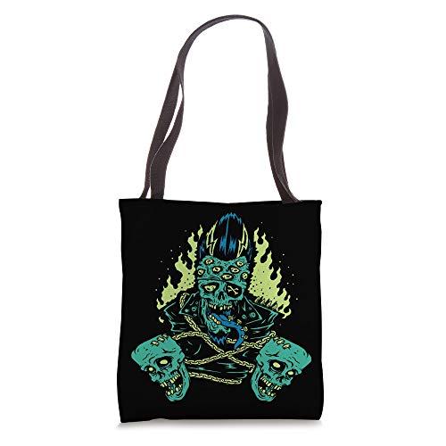 Horror Art - Psychobilly Chained Zombie Horror - Dark Art Tote Bag