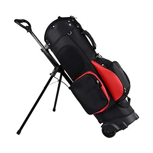 Bolso de Carrito de Golf Bolsas de Golf para Hombres Tela Cue de 7 Agujeros, 13 Bolsas de Club de Golf Grandes para Hombres Transit Golf Bag Fácil de Transportar y Duradero con cubiert